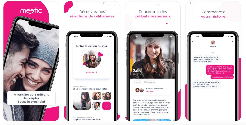 Application mobile de Meetic